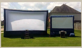 Inflatable screen by Rockin' Robin Djs